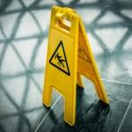 Claim for slip due to wet floor