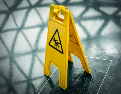 Walkways must be kept dry and clean.