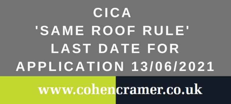 Same Roof Rule Abolished
