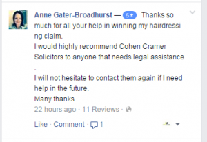 Hairdressing Compensation Claim