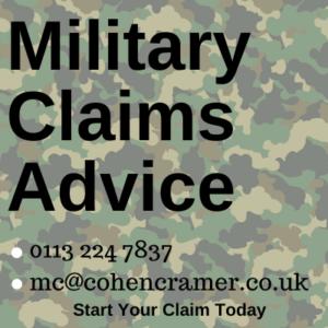 claim claim for injury sustained on training exercise